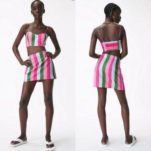 NWT Zara Crop Top & Skirt Set